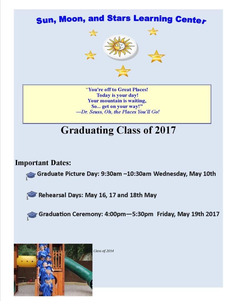Graduation dates 2017