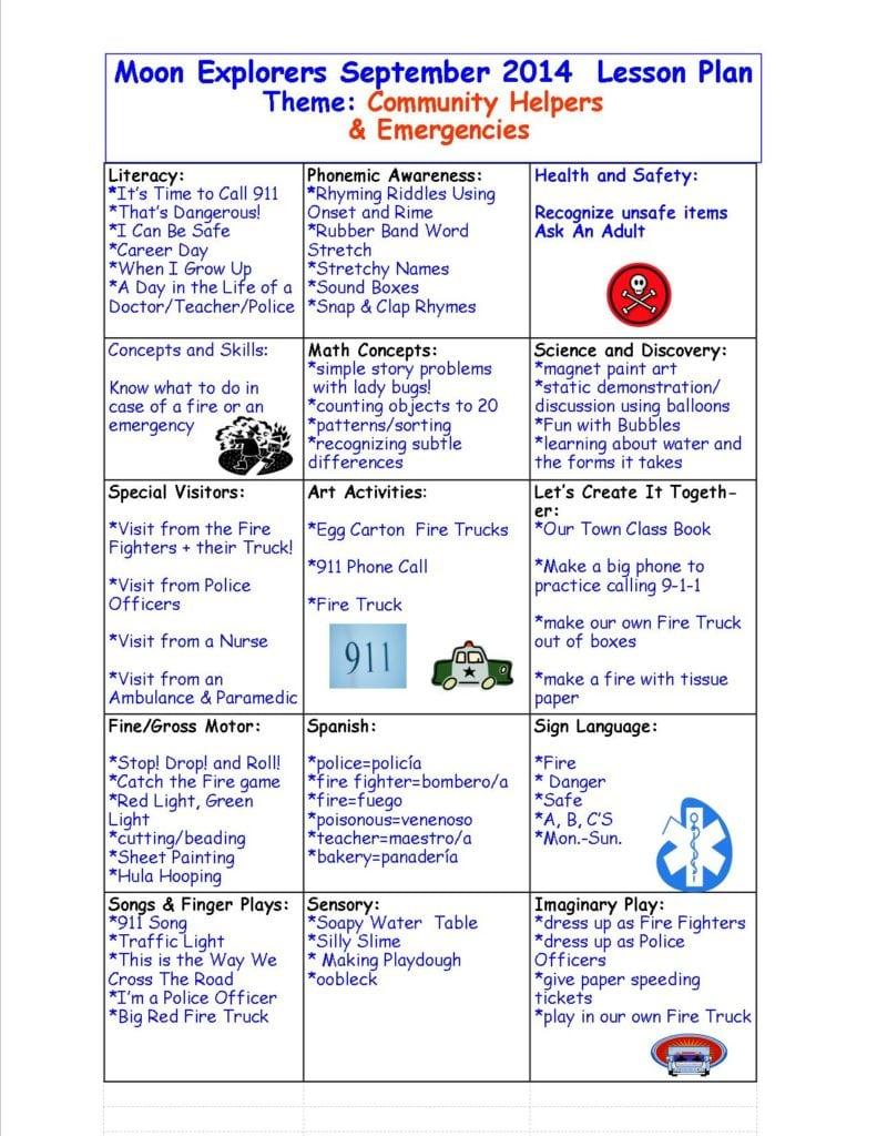 community helpers preschool lesson plans preschool community helpers theme sept 2014 171 sun moon 587
