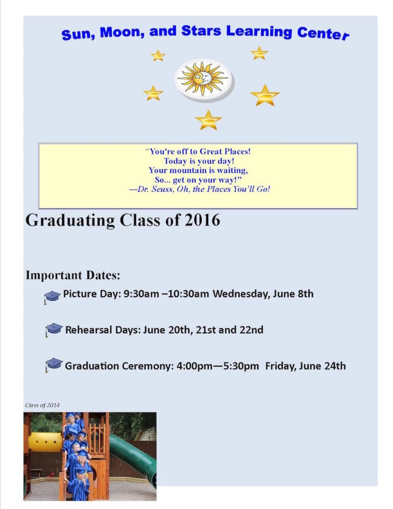 Graduation dates 2016-updated